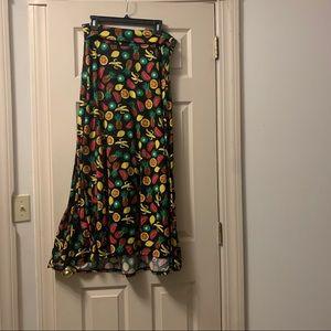 Lularoe size M fruit maxi skirt